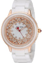 Betsey Johnson BJ00622-03 - Pave Stones White Ceramic Band Watches