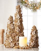 "Salzburg Creations Champagne Flower 24"" Cone Tree"