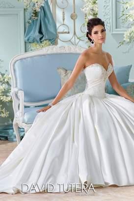David Tutera For Mon Cheri Satin Bridal Gown