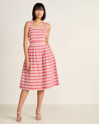 Emily And Fin Romy Beachcomber Stripe Cross Back Dress