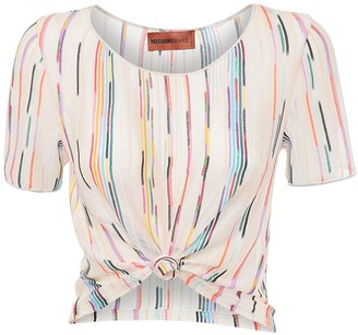Missoni Flamed Sheer Knit Crop Top