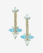 Express stone flower drop earrings