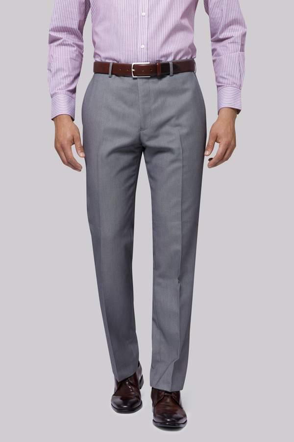 Moss Esq. Regular Fit Black & White Birdseye Pants