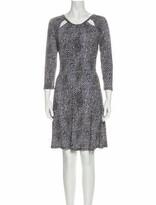 Thumbnail for your product : MICHAEL Michael Kors Animal Print Knee-Length Dress w/ Tags Black