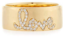 Sydney Evan Pave Diamond Love Ring, Size 6.5