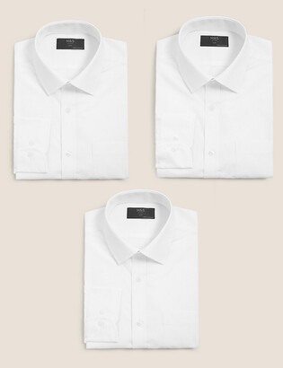 Marks and Spencer 3 Pack Slim Fit Long Sleeve Shirts