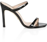 Thumbnail for your product : Stuart Weitzman Aleena Patent Leather Mules