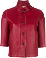 Loro Piana cropped leather jacket