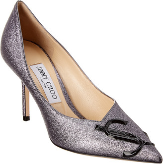 Jimmy Choo Love 85 Metallic Leather Pump