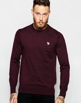 Paul Smith Jeans Jumper With Zebra Logo In Crew Neck - Red
