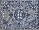 Pottery Barn Shibori Dot Printed Indoor/Outdoor Rug - Blue Jay