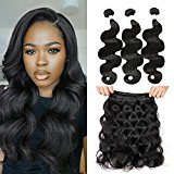 MAOYUAN 8A Grade 10inch Brazilian Virgin Hair Extension 3bundles 300g Body Wave 8inch-30inch Natural Back Color Hair Weft Tangle-free (10inch)