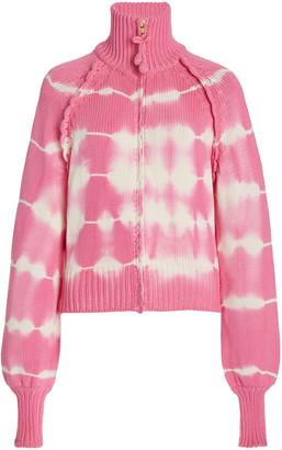 LoveShackFancy Florrie Tie-Dyed Cotton-Knit Sweater