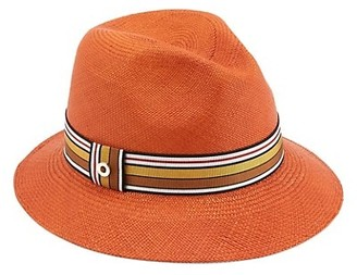 Loro Piana Ingrid Multi Stripe Ribbon Straw Fedora