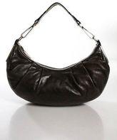 Calvin Klein Dark Brown Leather Silver Tone Hardware Casual Hobo Handbag