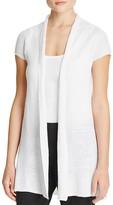 Eileen Fisher Cap Sleeve Linen Cardigan