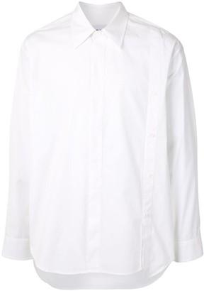 Solid Homme Cotton Button Detail Shirt
