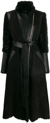 Temperley London Multi-Textured Belted Coat
