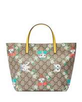 Gucci Girls' GG Supreme Pets Tote Bag, Beige