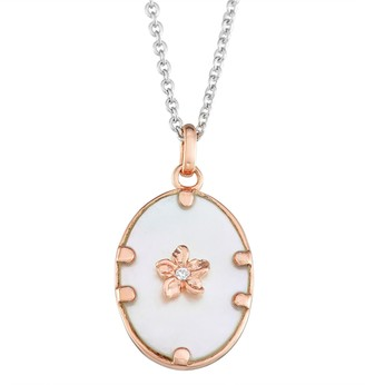 Stone Rose Harper Gold Plated Oval Cubic Zirconia Pendant