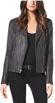 Michael Kors Leather Moto Jacket