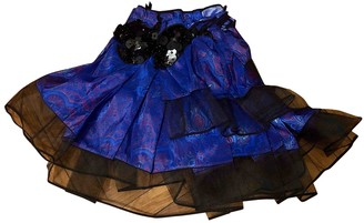 Louis Vuitton Blue Pony-style calfskin Skirt for Women