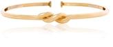 David Webb Polished Gold Twisted Nail Collar