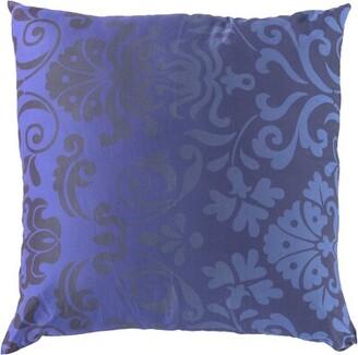 "Artigoran Medallions and Damask Cotton Pillow Cover Astoria Grand Size: 18"" x 18"", Color: Pale Pink/Camel"