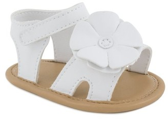 Baby Deer Baby Deer, Imogen Infant Soft Sole Sandal With Flower (Infant Girls)