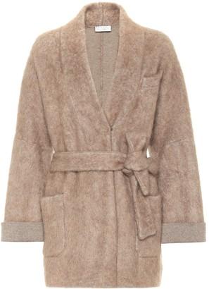 Brunello Cucinelli Belted wool-blend cardigan