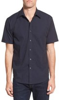 James Campbell Men's 'Rabaul' Regular Fit Swirl Jacquard Short Sleeve Sport Shirt
