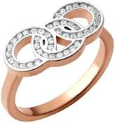 Links of London Signature Rose Gold & Sapphire Ring