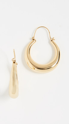 Luv Aj Martina Tube Hoop Earrings