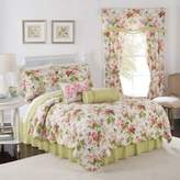 Waverly Emma's Garden Reversible King Quilt Set in Blossom