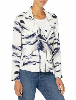 Nic+Zoe Women's Botanical Leaf Jacket