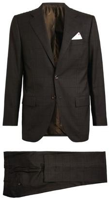 Kiton Check Single-Breasted Blazer