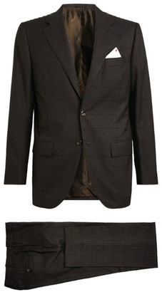 Kiton Check Single-Breasted Suit