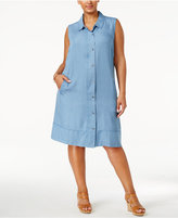 Style&Co. Style & Co Plus Size Denim Shirtdress, Only at Macy's