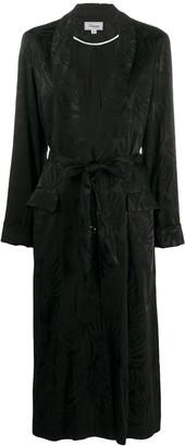 Temperley London Belted Shawl Collar Coat