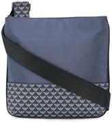 Emporio Armani logo print zipped messenger bag