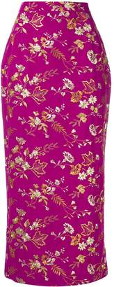 Dolce & Gabbana Pre-Owned floral embroidery midi skirt