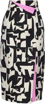 Roksanda Bahari-print linen and cotton-blend skirt