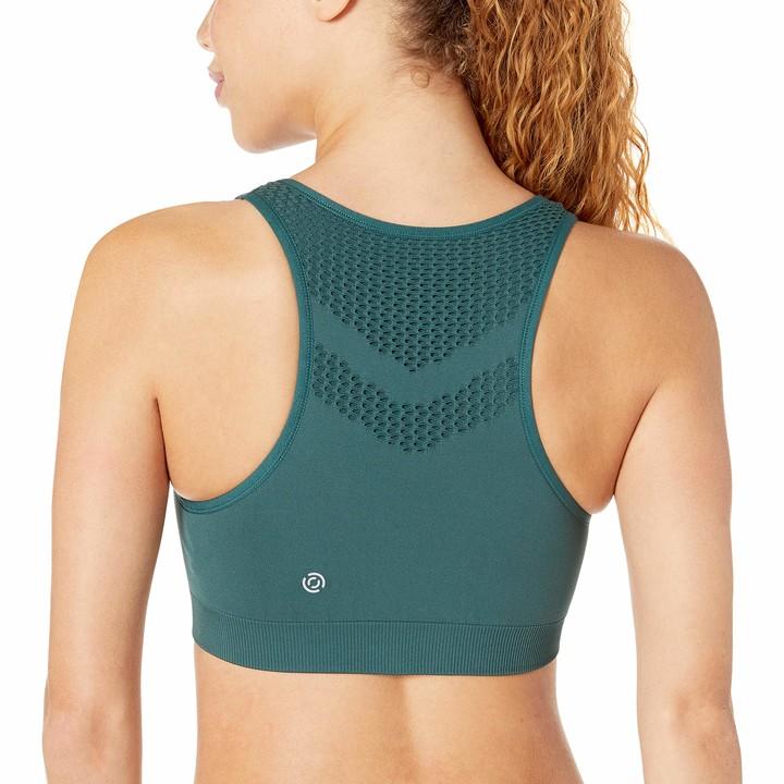 Core 10 Light Support Seamless Mesh Yoga Bralette Sports Bra Pine L