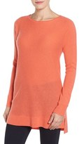 Women's Halogen High/low Wool & Cashmere Tunic Sweater