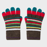 Paul Smith Boys' 7+ Years Wool-Cashmere Striped Gloves
