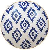 "Dana Gibson 11"" Block-Print Decorative Bowl - Navy/White"