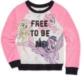 My Little Pony Crew Neck Long Sleeve Raglan Sleeve Blouse - Big Kid Girls