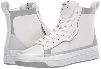 Michael Kors Keating High Top (Optic White/Silver) Men's Shoes