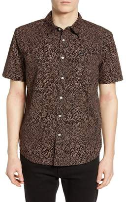 Obey York Print Short Sleeve Slim Fit Shirt