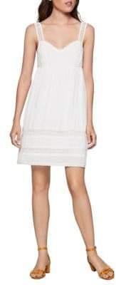 BCBGeneration Crochet-Trimmed Cutout Dress